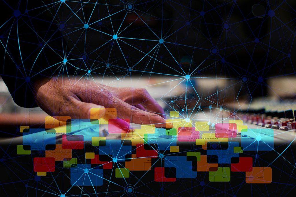 digitization, hand, slider